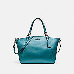 COACH F23538 - SMALL KELSEY SATCHEL BLACK ANTIQUE NICKEL/METALLIC DARK TEAL