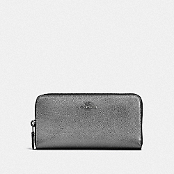 COACH F23554 - ACCORDION ZIP WALLET GM/METALLIC GRAPHITE