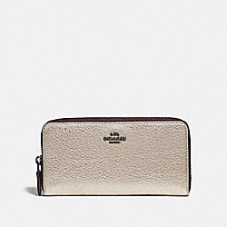 COACH F23554 - ACCORDION ZIP WALLET GM/PLATINUM