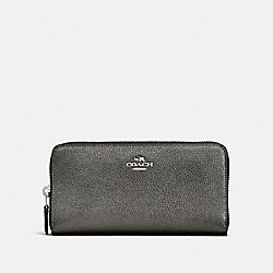 COACH F23554 - ACCORDION ZIP WALLET SV/METALLIC GRAPHITE