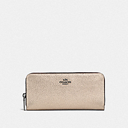 COACH F23555 - SLIM ACCORDION ZIP WALLET GM/PLATINUM