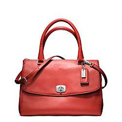 COACH F23562 Pinnacle Leather Harper Satchel ANTIQUE NICKEL/POPPY