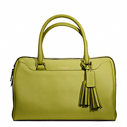 COACH F23574 Leather Haley Satchel BRASS/LIME