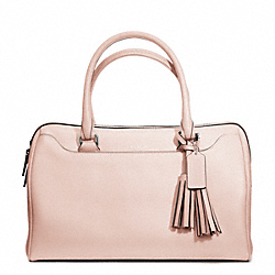 COACH F23574 - LEATHER HALEY SATCHEL SILVER/BLUSH