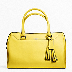 COACH F23574 - LEATHER HALEY SATCHEL SILVER/LEMON