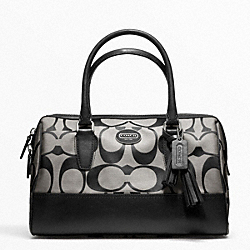 COACH F23575 - SIGNATURE HALEY SATCHEL SILVER/BLACK/WHITE/BLACK
