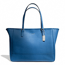 COACH F23576 - SAFFIANO MEDIUM CITY TOTE SILVER/COBALT