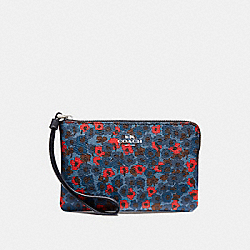 COACH F23637 Corner Zip Wristlet With Meadow Cluster Print SVMRX