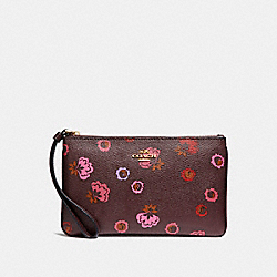 COACH F23640 Large Wristlet With Primrose Print IMFCG