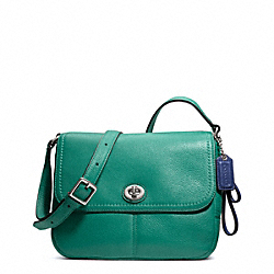 COACH F23663 Park Leather Violet SILVER/BRIGHT JADE