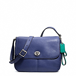 COACH F23663 - PARK LEATHER VIOLET CROSSBODY SILVER/FRENCH BLUE