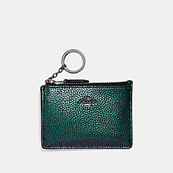 COACH F23671 Mini Id Skinny BLACK ANTIQUE NICKEL/HOLOGRAM