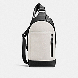 MANHATTAN SLING PACK IN COLORBLOCK - F23689 - CHALK/BLACK/BLACK ANTIQUE NICKEL