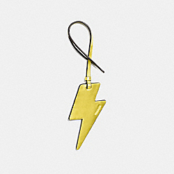 COACH F23712 Lightning Bolt Ornament METALLIC LEMON