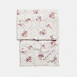 BIRD PRINT SIGNATURE OBLONG - f23787 - CHALK MULTI