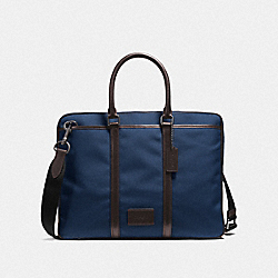 COACH F23808 - METROPOLITAN SLIM BRIEF QB/BRIGHT NAVY/CHESTNUT