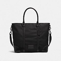 COACH F23810 Metropolitan Tote QB/BLACK/BLACK