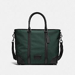 COACH F23810 - METROPOLITAN TOTE RACING GREEN/BLACK/BLACK ANTIQUE NICKEL