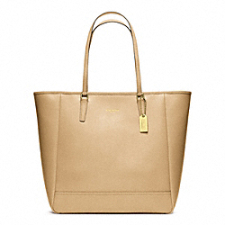 COACH F23821 Medium North/south City Tote BRASS/CAMEL