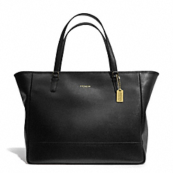 COACH F23822 Saffiano Leather Large City Tote BRASS/BLACK