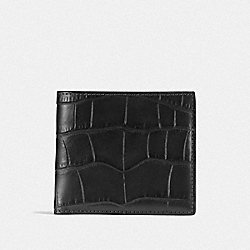 COACH F23835 Double Billfold Wallet BLACK