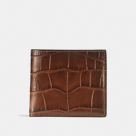 COACH F23835 DOUBLE BILLFOLD WALLET SADDLE