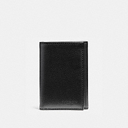 COACH F23845 Trifold Wallet BLACK