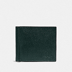 COACH F23847 Money Clip Billfold FOREST/NICKEL