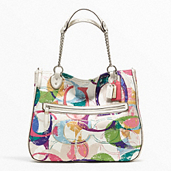 COACH F23864 - POPPY STAMPED C CHAIN TOTE ONE-COLOR