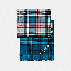 COACH F23868 Ombre Stripe Plaid Oblong BRIGHT MINERAL MULTI