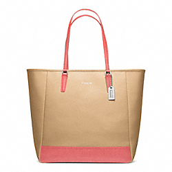 COACH F23891 - COLORBLOCK NORTH/SOUTH CITY TOTE ONE-COLOR