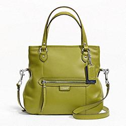 COACH F23901 Daisy Leather Mia SILVER/GRASS GREEN