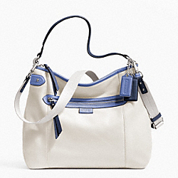 COACH F23903 Daisy Spectator Leather Convertible Hobo SILVER/PARCHMENT MULTI