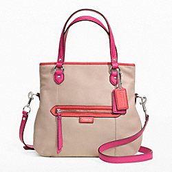 COACH F23911 Daisy Spectator Leather Mia SILVER/SAND MULTICOLOR