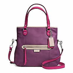 COACH F23911 Daisy Spectator Leather Mia SILVER/PURPLE MULTI
