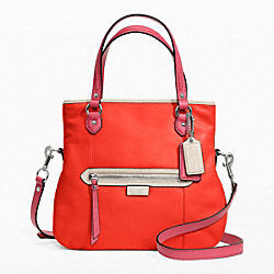 COACH F23911 Daisy Spectator Leather Mia SILVER/VERMILLION MULTICOLOR
