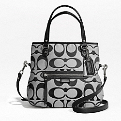 COACH F23940 Daisy Outline Signature Metallic Mia SILVER/MOONLIGHT