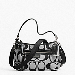 COACH F23946 Daisy Outline Signature Metallic Crossbody SILVER/MOONLIGHT
