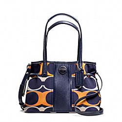 COACH F23959 - SIGNATURE STRIPE LINEAR SIGNATURE MINI CARRYALL ONE-COLOR
