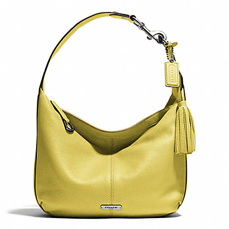 c15cb7bad41 COACH F23960 - AVERY LEATHER SMALL HOBO - SILVER CHARTREUSE
