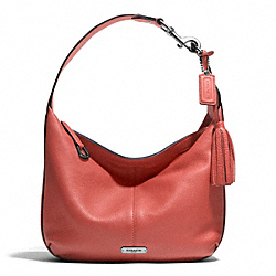 AVERY LEATHER SMALL HOBO - f23960 - SILVER/SIENNA
