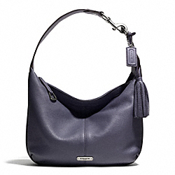 AVERY LEATHER SMALL HOBO - f23960 - SILVER/SLATE