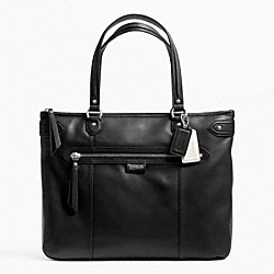 COACH F23973 - DAISY LEATHER EMMA TOTE SILVER/BLACK