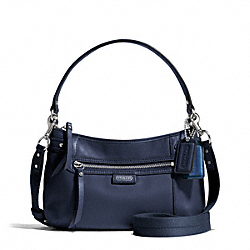 COACH F23978 - DAISY LEATHER CROSSBODY SILVER/MIDNIGHT NAVY