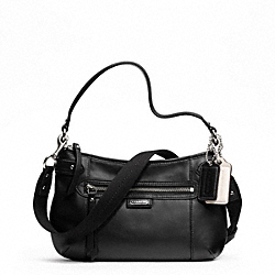 DAISY LEATHER CROSSBODY - f23978 - SILVER/BLACK