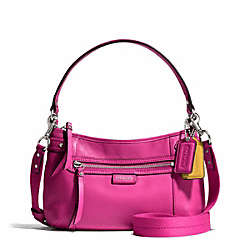 COACH F23978 Daisy Leather Crossbody SILVER/BRIGHT MAGENTA