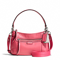 COACH F23978 Daisy Leather Crossbody SILVER/CORAL