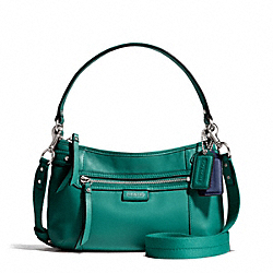 COACH F23978 - DAISY LEATHER CROSSBODY SILVER/JADE
