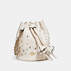 COACH F24002 Petal Wristlet With Stardust Studs LIGHT GOLD/CHALK