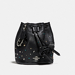 COACH F24002 Petal Wristlet With Stardust Studs SILVER/BLACK